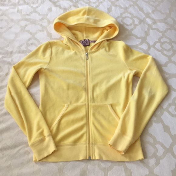 Juicy Couture Tops Pastel Yellow Velour Hoodie Poshmark